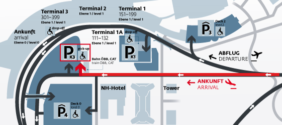 Access to Arrivals hall