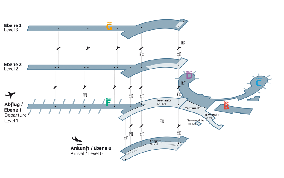 Vienna Airport Map Viennaairport   Airport map Vienna Airport Map
